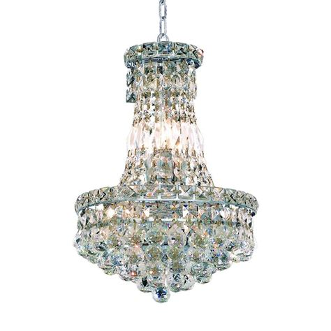 Chandelier Home Depot by Ove Decors Sera 6 Light Chrome Chandelier Sera The Home Depot