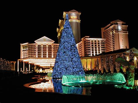 las vegas adorns itself with lights and decor for holiday