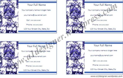 address card template free address card templates graphics and templates page 15