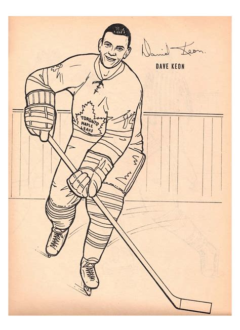nitzy s hockey den maple leafs 1964 colouring book