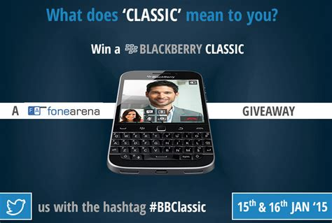 blackberry classic giveaway contest - Blackberry Giveaway