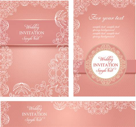free vector invitation card template wedding invitation card templates free vector in adobe