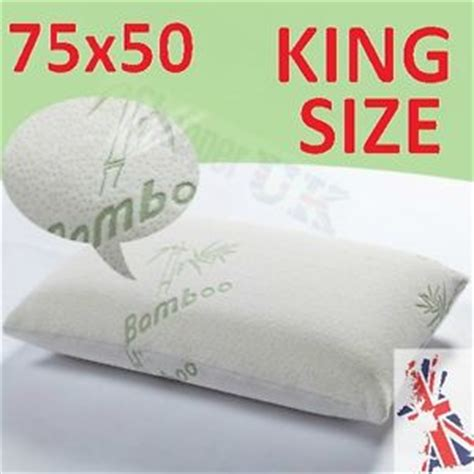 What Size Is A King Size Pillow by Large King Size Bamboo Pillows Memory Foam Anti Allergic