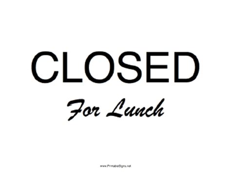 sign clipart lunch break pencil and in color sign clipart lunch