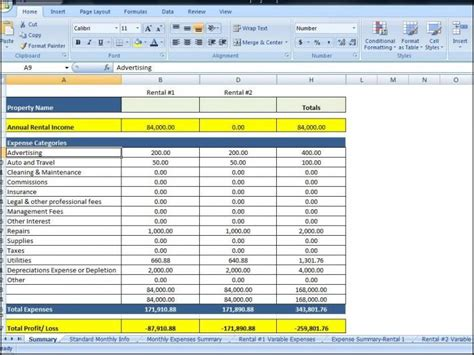 excel template for rental property rental property business spreadsheet rental ledger