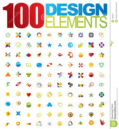 design elements by ultimate symbol 100 vector logo and design elements royalty free stock