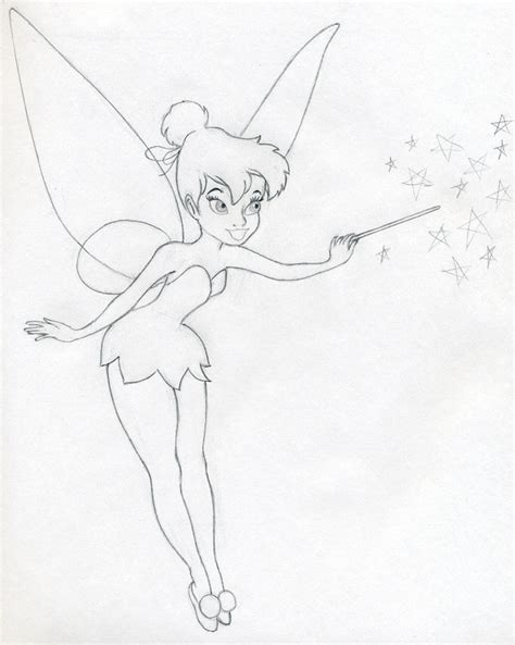 Sketches To Draw Easy by Draw Tinkerbell Is Easy