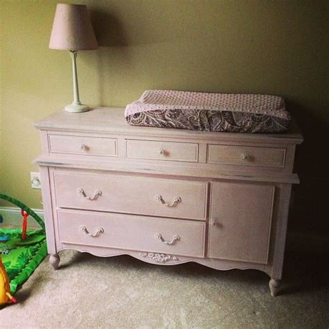 diy shabby chic baby furniture done in annie sloan antoinette light pink with some faux