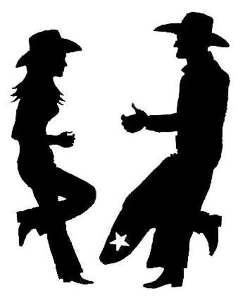 cowboy and cowgirl silhouette l l engineering cowboy silhouettes