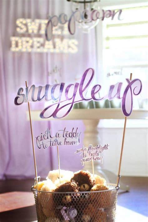 Kara's Party Ideas Popcorn & Pajamas Purple Movie Night