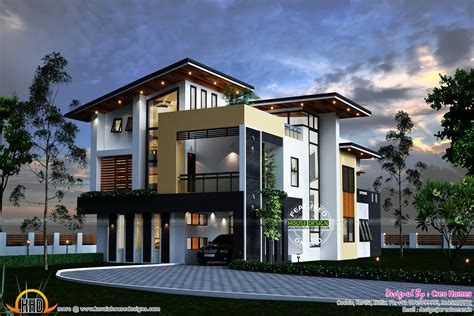 Contemporary Homes Plans Kerala Contemporary House Kerala Home Design And Floor Plans