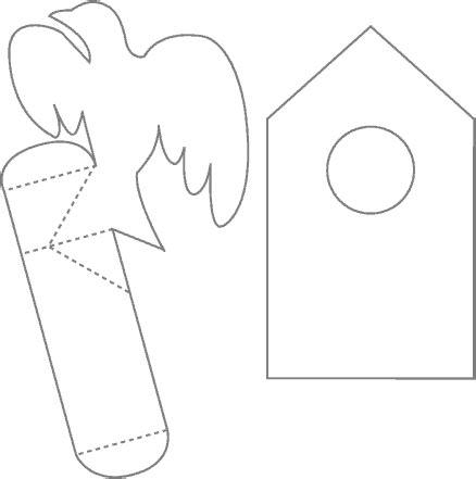 bird house pop  card robert sabuda method cards kirigami  template