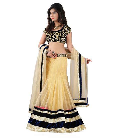 5 Beautiful Velvet Pieces To by Omtex Fab Beautiful Chiku Color Lehenga With Velvet Blouse
