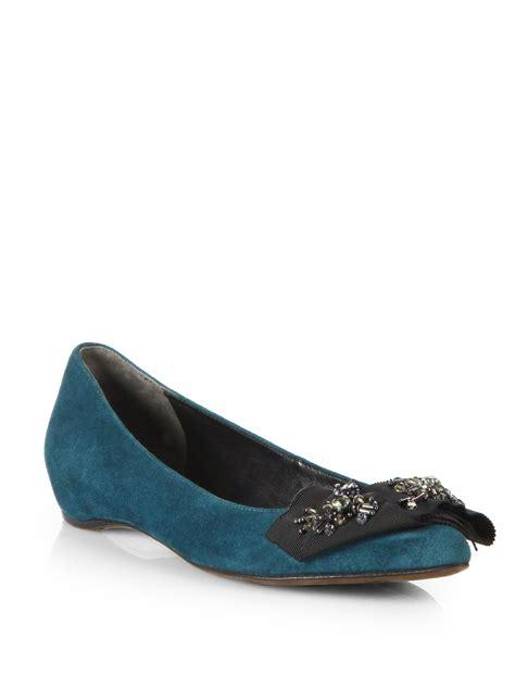 vera wang shoes flats vera wang lavender aggy arabesque bow suede ballet flats