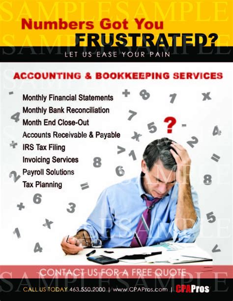 accounting flyer templates bookkeeping services flyer images