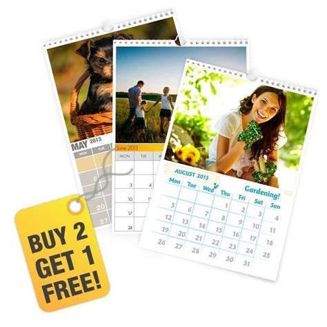 Calendar Personalised Personalised Photo Calendars 2016 A3 And A4 Buy 2 Get 1 Free