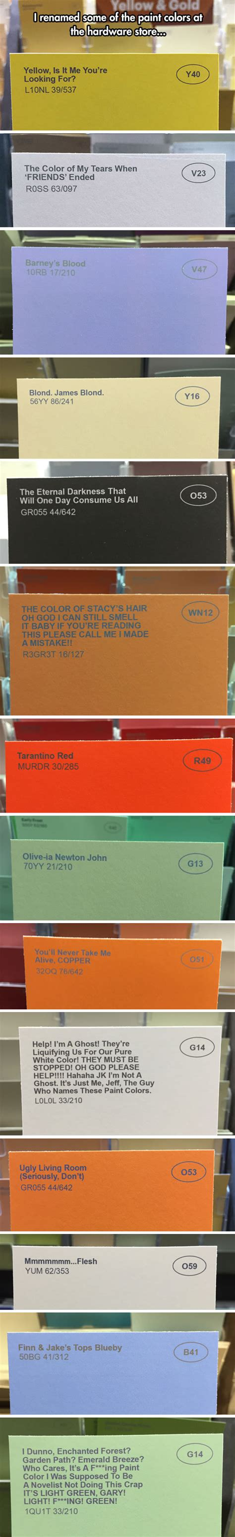weird paint color names the greatest color names in the world barnorama