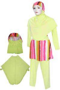 Set Salur Hijau baju renang dewasa ammariz hijau salur pelangi zammuslim