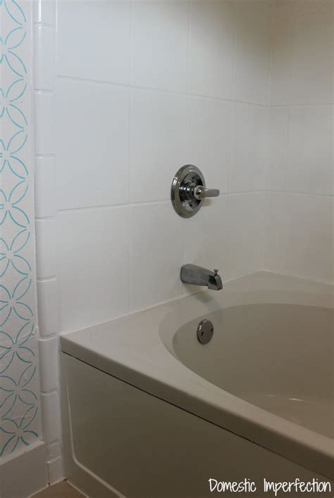 Great Bathroom Ideas How To Refinish Outdated Tile Yes I Painted My Shower