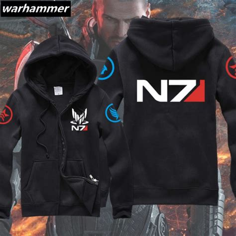 Hoodie Zipper Team Tsm 2 new mass effect 3 n7 paragon inspired s gamer zip up hoodie team zipper hoody warm
