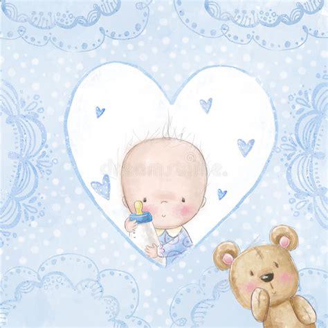 doccia neonato cartolina d auguri della doccia di bambino neonato con l
