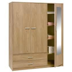 2 Door Wardrobe Felix 3 Door 2 Drawer Wardrobe Brighton Oak