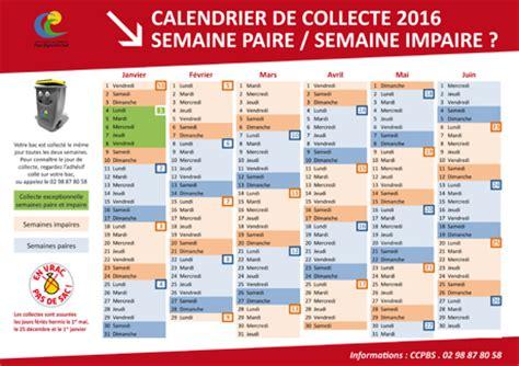 Calendrier Janvier 2016 Avec Numéro De Semaine Jour De Collecte Des Bacs Jaunes Jean Trolimon