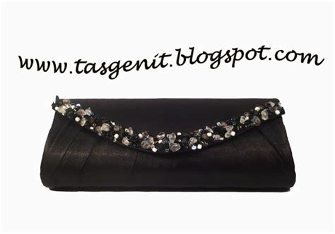 Tas Murah Untuk Kondangan 1 tas pesta hitam payet oval terjual kode 178