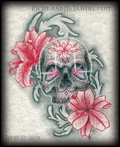 skull flowers tattoo designs skull flower richland ms richland ms tattoos
