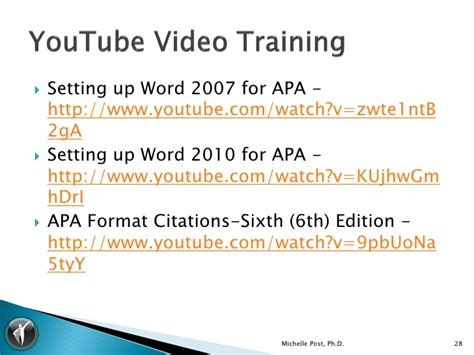 apa format youtube word 2007 how to write an apa paper using microsoft word 2007