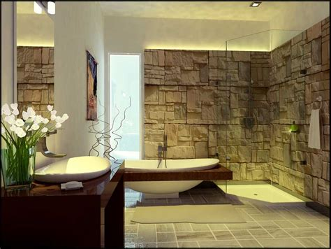 bathroom stone wall decorate your bathroom with stones home designs project
