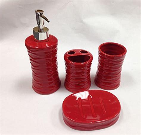 red bathroom set red bathroom decor