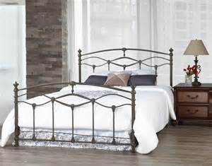 Wrought Iron Bed Frame Romantica Grey Wrought Iron Bed Frame