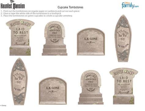 diy tombstone templates diy haunted mansion cupcake tombstones disney