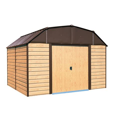 arrow galvanized steel storage shed common  ft   ft
