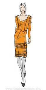 sketches fashions hand drawn fashion model sketch yellos