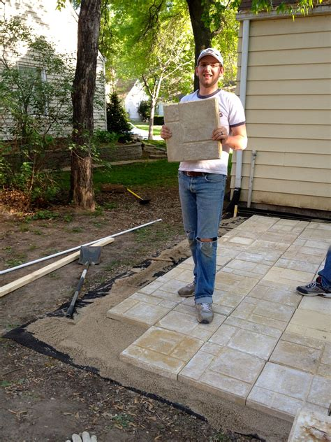 small paver patio bring on the yardwork part 1 installing a paver patio