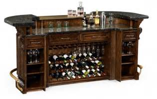 Home Bar With Granite Top by Home Bar Oak Wood Granite Top With Brass Rail