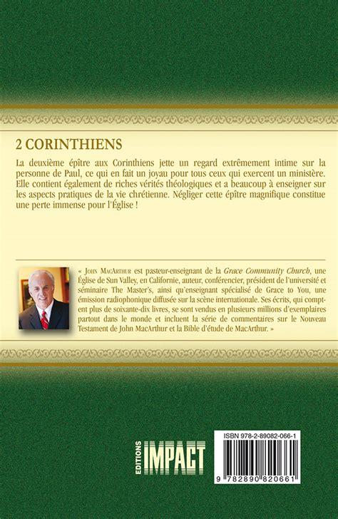 Commentaire Macarthur 10 2 Corinthiens