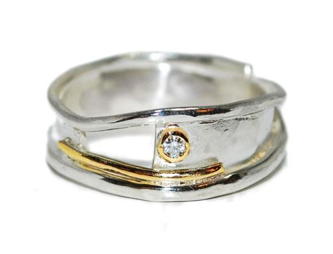 Handmade Silver And Gold Rings - unique and handmade silver with gold