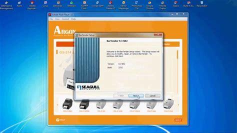 Barcode Printer Argox Os214 how to install argox software bartender