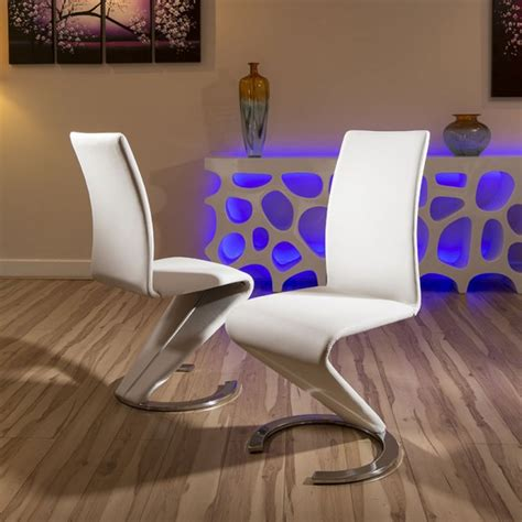 dining chair chairs set   black faux leather modern  shape  base dining chairs dining