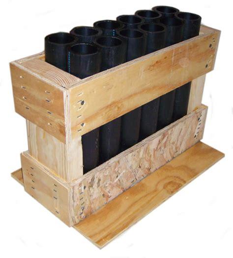 pyroboom consumer and display mortar racks