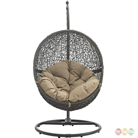 rattan swing chair hide casual outdoor patio rattan weaved swing chair w