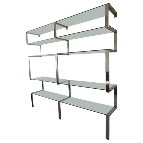 Chrome Wall Shelf vintage modern chrome wall shelves in the style of milo baughman for sale at 1stdibs