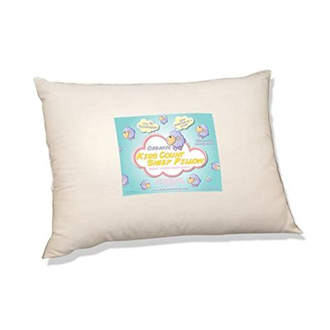 organic toddler pillow by count sheep hypoallergenic