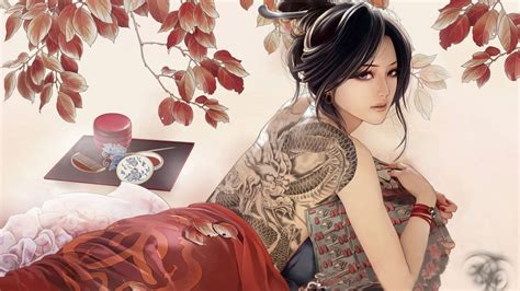 tattoo girl hd wallpaper anime girl tattoos desktop wallpaper desktop hd wallpaper