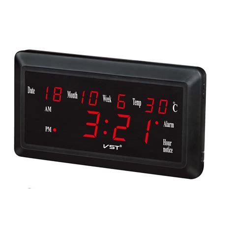 Jam Alarm Led jam weker alarm dinding led calendar temperatur vst 780w