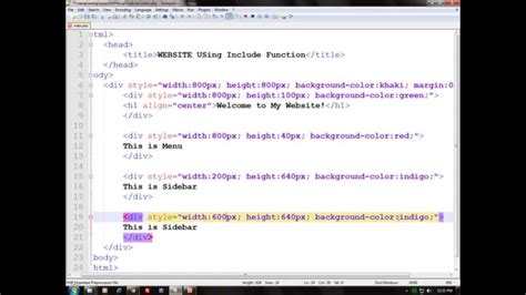 tutorial create website with php create complete website layout using php part 1 web