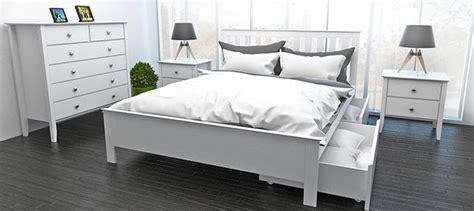 Myer Bedroom Furniture Myer White Bed With Two Storage Drawers